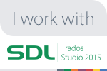 We use SDL Trados Software